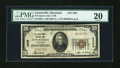 National Bank Notes:Maryland, Centreville, MD - $20 1929 Ty. 1 The Queen Anne's NB Ch. # 3205....