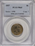 Proof Buffalo Nickels, 1937 5C PR65 PCGS....