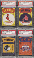 Baseball Cards:Lots, Rare 1968-70 Fleer Major League Team Logo Patches PSA-Graded Quartet (4)....
