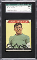 Football Cards:Singles (Pre-1950), 1933 Sport Kings Jim Thorpe #6 SGC 86 NM+ 7.5....