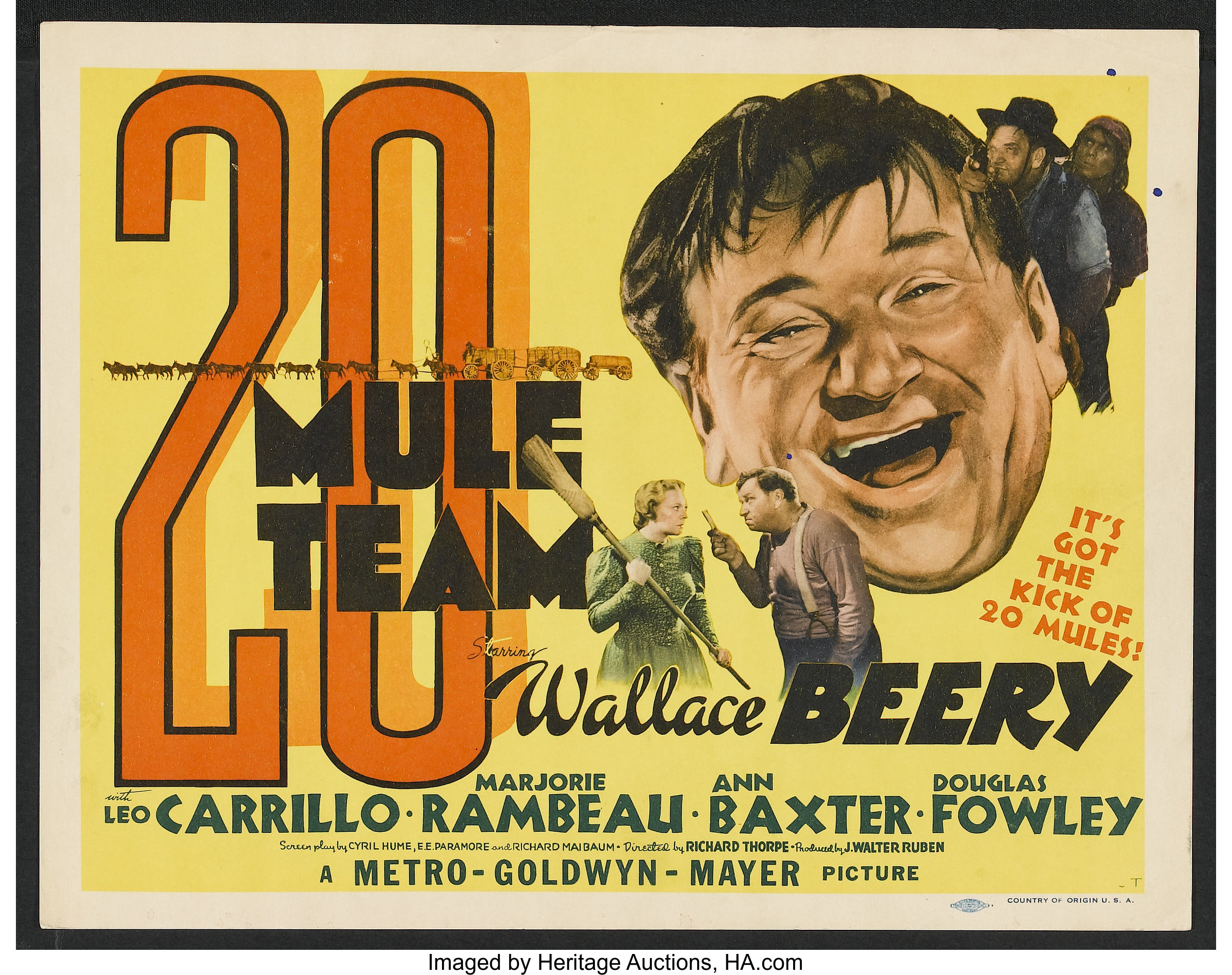 20 Mule Team (1940) Action, Adventure, Comedy