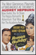 "Movie Posters:Romance, Roman Holiday (Paramount, R-1962). One Sheet (27"" X 41""). Romance.. ..."