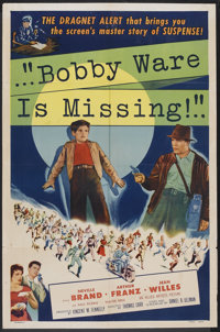 """Bobby Ware is Missing (Allied Artists, 1955). One Sheet (27"""" X 41""""). Crime"""