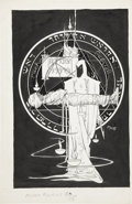 Original Comic Art:Covers, Michael W. Kaluta Moon Knight #38 Cover Original Art(Marvel, 1984)....