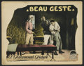 "Movie Posters:Adventure, Beau Geste (Paramount, 1926). Title Lobby Card and Lobby Card (11""X 14""). Adventure.. ... (Total: 2 Items)"