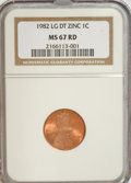 Lincoln Cents, 1982 1C Large Date Zinc MS67 Red NGC. NGC Census: (0/0). PCGSPopulation (311/21). Numismedia Wsl. Price for NGC/PCGS coin...