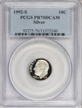 Proof Roosevelt Dimes: , 1992-S 10C Silver PR70 Deep Cameo PCGS. PCGS Population (105/0).Numismedia Wsl. Price for NGC/PCGS coi...