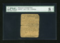 Colonial Notes:Delaware, Delaware June 1, 1759 15s PMG Very Good 8 Net....