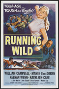 "Movie Posters:Bad Girl, Running Wild (Universal, 1955). One Sheet (27"" X 41""). Bad Girl....."