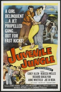 "Juvenile Jungle (Republic, 1958). One Sheet (27"" X 41""). Crime"