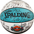 Basketball Collectibles:Balls, 1996 NBA All-Stars Signed Basketball from Shaquille O'Neal's Personal Collection. ...