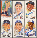 Autographs:Post Cards, 1980's Perez-Steele Postcards Signed Collection of 61....