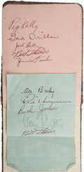 Hockey Collectibles:Others, 1930's Autograph Book Signed by Hockey, Boxing Stars....