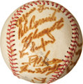 Autographs:Baseballs, 1954-55 Santurce Team Signed Baseball with Clemente, Mays....