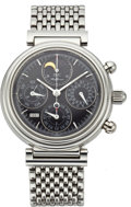 Timepieces:Wristwatch, IWC Da Vinci Automatic Chronograph with Perpetual Calendar and Moon Phase, circa 1999. ...