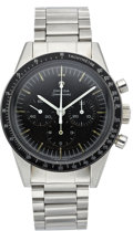 "Timepieces:Wristwatch, Omega ""Pre-Moon"" Speedmaster ST 105-003 Chronograph, circa 1965. ..."