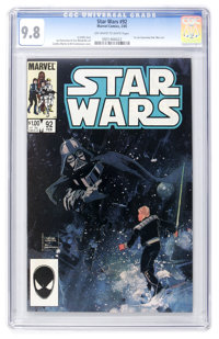 Star Wars #92 (Marvel, 1985) CGC NM/MT 9.8 Off-white to white pages
