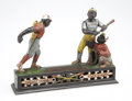 """Antiques:Toys, """"Dark Town Battery"""" Cast Iron Mechanical Bank...."""