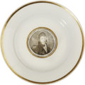 Political:3D & Other Display (pre-1896), Winfield Scott: A Rare China Dinner Plate for the 1852 WhigPresidential Nominee....