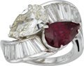 Estate Jewelry:Rings, Diamond, Ruby, Platinum Ring. ...