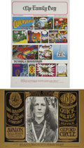 Music Memorabilia:Posters, Quicksilver Messenger Service Avalon Poster Group (Family Dog,1967).... (Total: 2 Items)