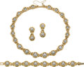 Estate Jewelry:Suites, Diamond, Gold Jewelry Suite, Jabel. ... (Total: 4 Items)