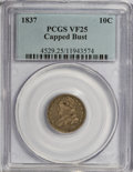 Bust Dimes, 1837 10C Capped Bust VF25 PCGS. PCGS Population (3/111). NGCCensus: (2/112). Mintage: 359,500. Numismedia Wsl. Price for ...