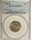 Jefferson Nickels: , 1950-D 5C MS65 Full Steps PCGS. PCGS Population (808/478). NGCCensus: (91/141). (#84042)...