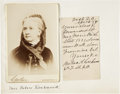 Autographs:Statesmen, Belva Lockwood: Autograph Letter Signed and Cabinet Card. ...