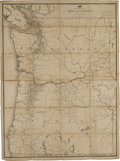Miscellaneous:Ephemera, Map: Post Route Map of the State of Oregon and Territory ofWashington...