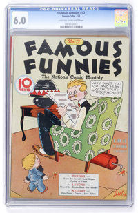Famous Funnies #12 (Eastern Color, 1935) CGC FN 6.0 Light tan to off-white pages