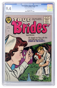 True Brides' Experiences #15 File Copy (Harvey, 1955) CGC NM 9.4 Cream to off-white pages