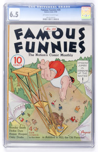 Famous Funnies #25 (Eastern Color, 1936) CGC FN+ 6.5 Off-white to white pages