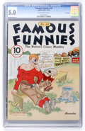 Platinum Age (1897-1937):Miscellaneous, Famous Funnies #28 Lost Valley pedigree (Eastern Color, 1936) CGCVG/FN 5.0 Slightly brittle pages....