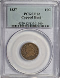 Bust Dimes, 1837 10C Capped Bust F12 PCGS. PCGS Population (2/117). NGC Census: (2/115). Mintage: 359,500. Numismedia Wsl. Price for NG...