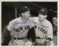 Autographs:Photos, Early 1970's Joe DiMaggio & Casey Stengel Signed Photograph....