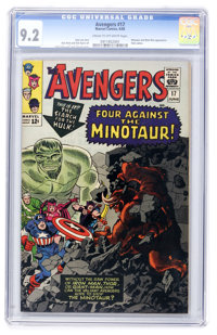 The Avengers #17 (Marvel, 1965) CGC NM- 9.2 Cream to off-white pages