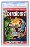 Bronze Age (1970-1979):Superhero, The Defenders #1 (Marvel, 1972) CGC NM+ 9.6 White pages....