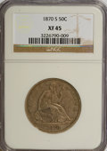 Seated Half Dollars: , 1870-S 50C XF45 NGC. NGC Census: (5/15). PCGS Population (2/27).Mintage: 1,004,000. Numismedia Wsl. Price for NGC/PCGS coi...