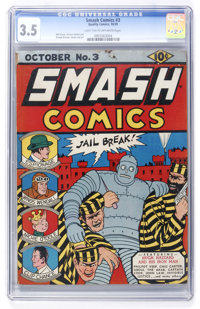Smash Comics #3 (Quality, 1939) CGC VG- 3.5 Light tan to off-white pages