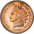 Proof Indian Cents, 1869 1C PR65 Red Cameo PCGS....