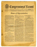 Memorabilia:MAD, Congressional Record with Mad Magazine Tribute (1962)....