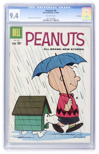 Peanuts #6 File Copy (Dell, 1960) CGC NM 9.4 Off-white pages