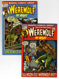 Werewolf by Night #1 and 2 Group (Marvel, 1972) Condition: Average VF+.... (Total: 2 Comic Books)