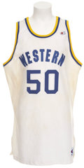"""Basketball Collectibles:Uniforms, 1994 Shaquille O'Neal Screen Worn Jersey from """"Blue Chips"""" MotionPicture...."""