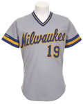 Baseball Collectibles:Uniforms, 1987 Robin Yount Game Worn Jersey....