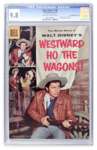 Four Color #738 Westward Ho the Wagons - File Copy/Double Cover (Dell, 1956) CGC NM/MT 9.8 Off-white to white pages