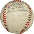 Autographs:Baseballs, 1947 Montreal Royals Team Signed Baseball with Campanella....