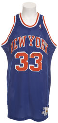 Basketball Collectibles:Uniforms, 1990-91 Patrick Ewing Game Worn Jersey....