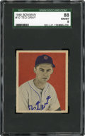 Baseball Cards:Singles (1940-1949), 1949 Bowman Ted Gray #10 SGC 88 NM/MT 8....